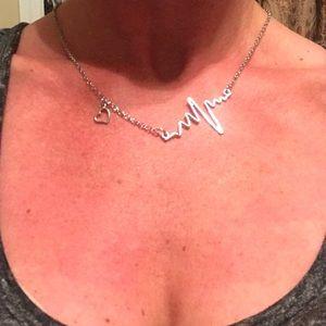 Bundle of 7 Heart Beat Pendant Necklace
